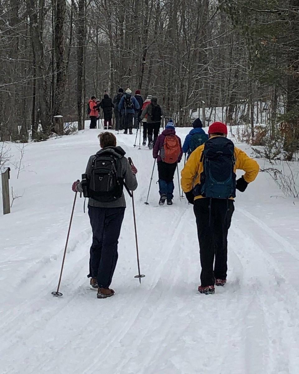 Hikers Enjoy Trek Through Six Mile Lake Provincial Park