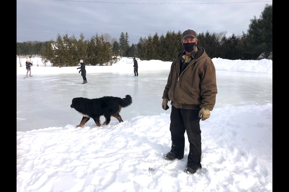 Cordery Electrical Contracting Inc. owner Richard Cordery has opened up his 75 by 150-foot ice rink to the public.