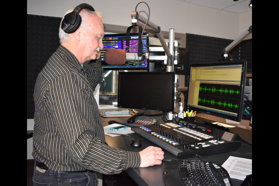 Jack Latimer, who started his first full-time radio gig in 1972, will hang up his mic for the last time on Feb. 14. Dave Dawson/OrilliaMatters