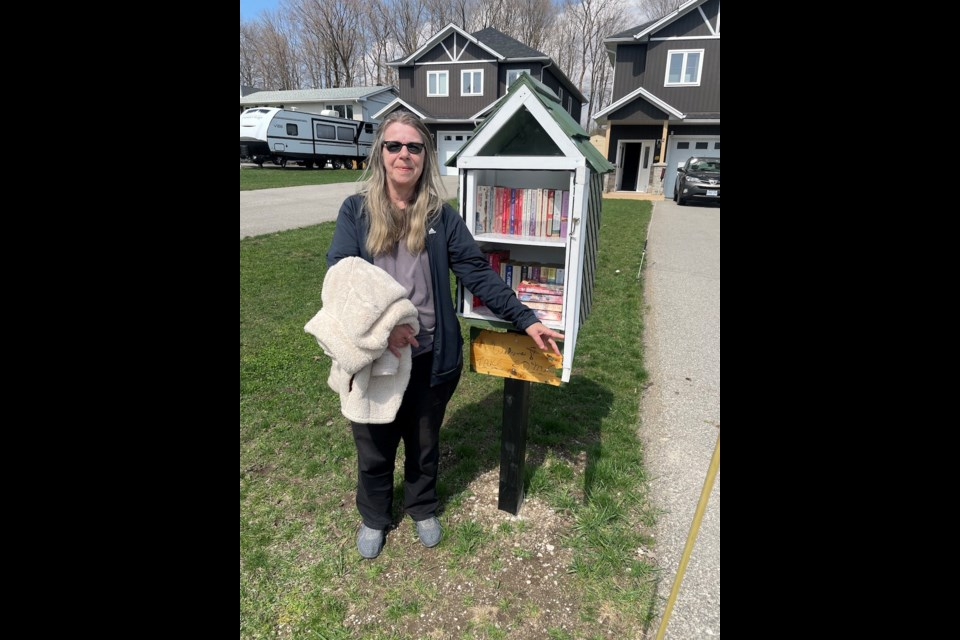In October, Cindy Cochrane started her own lending library at 2 Sandra Dr. It is one of several in various Orillia neighbourhoods.