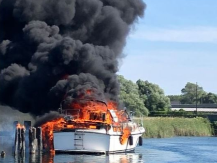 boat fire narrows opp