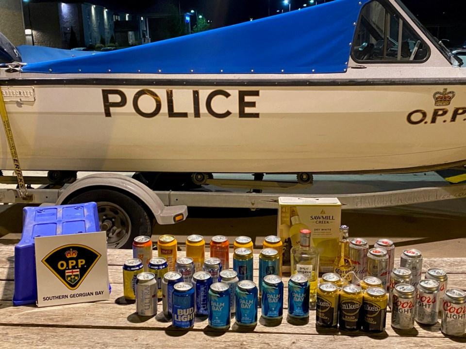OPP Marine Unit Liquor Seizures July 4 2020
