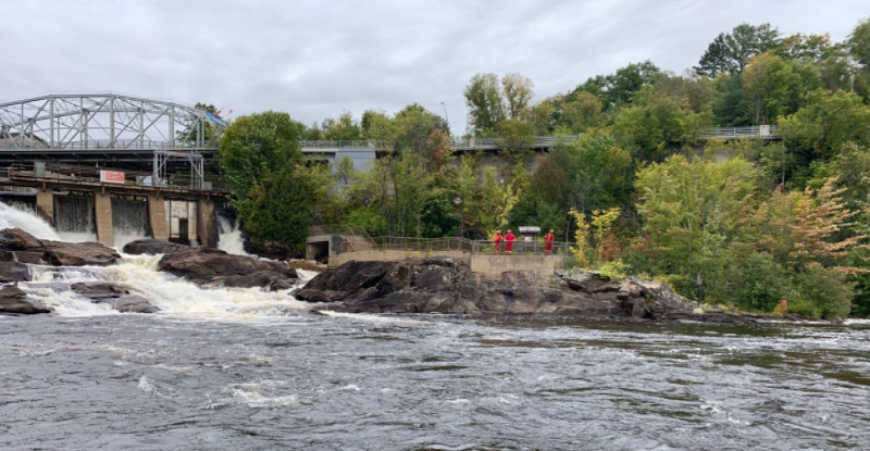 opp searching for kayaker in bracebridge