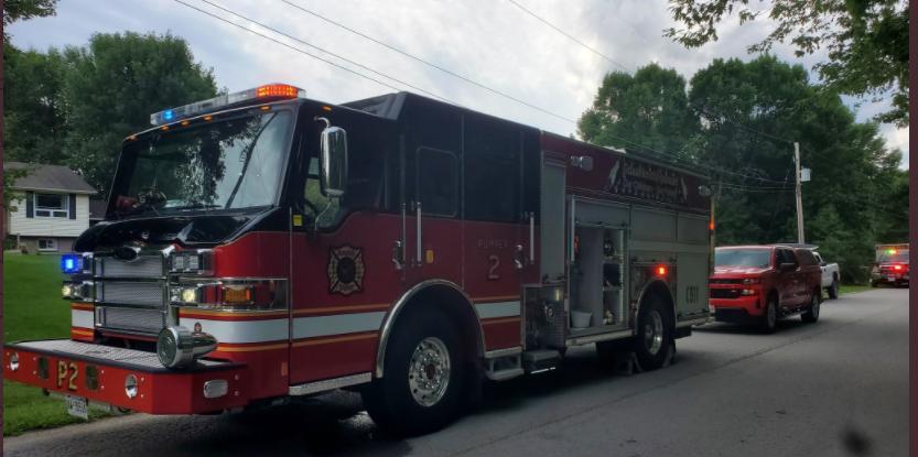 ramara fire trucks at plane crash