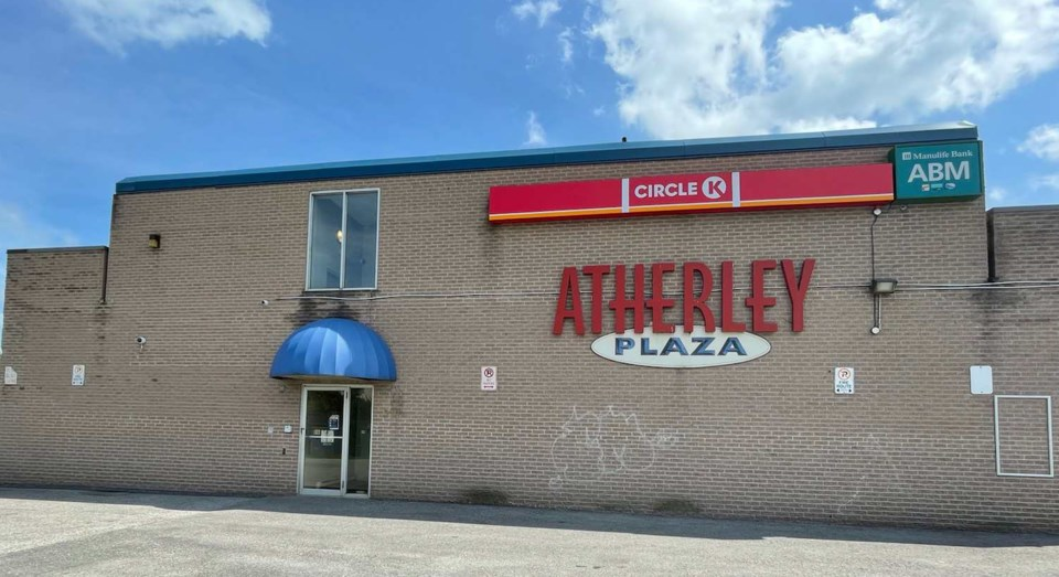 rear of atherley plaza