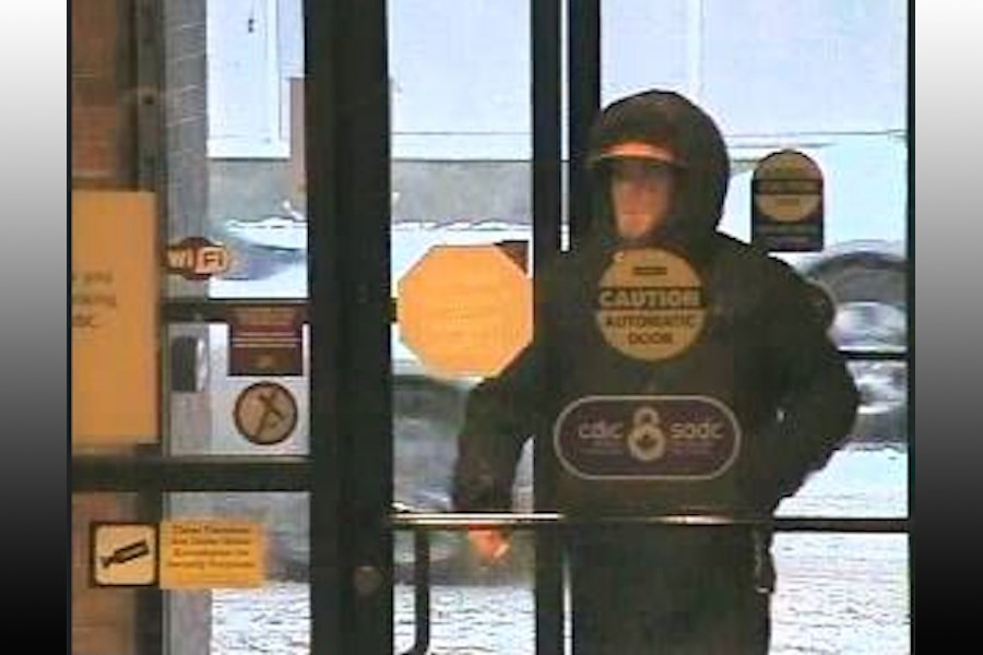 Bank robbery suspect photo provided by the Ontario Provincial Police