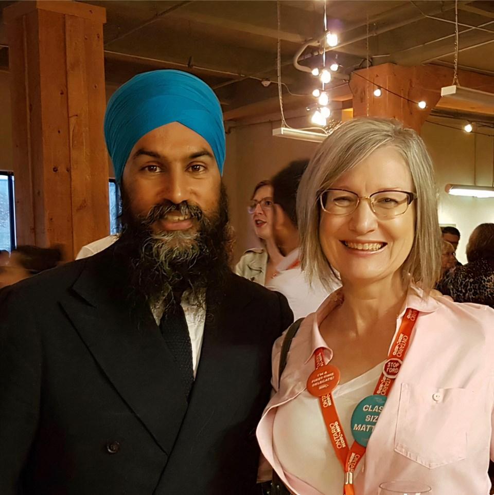 Janet-Lynne Durford and Jagmeet Singh (June 2019)