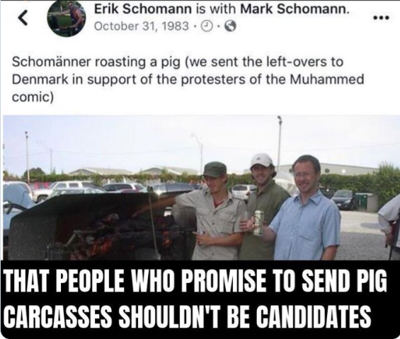 This Facebook post from 2007 has led to Erik Schomann resigning as Green Party candidate for Simcoe North.