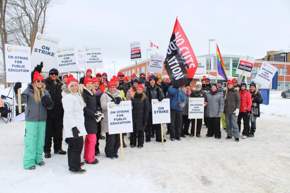 2020-01-21 Orillia teachers strike 1