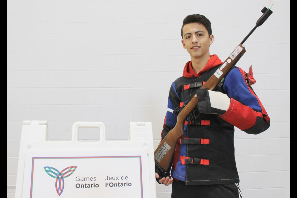 "Target shooter Thomas Armenis competed this weekend in the Orillia 2018 Ontario Winter Games, two weeks after his father died. He stuck a note to his rifle that read, ""For you Dad."""