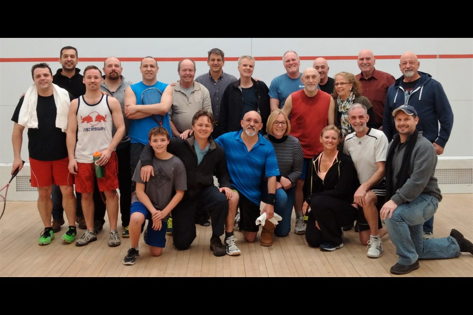 Participants gathered to mark the end of the winter squash season at the Orillia YMCA earlier this week.