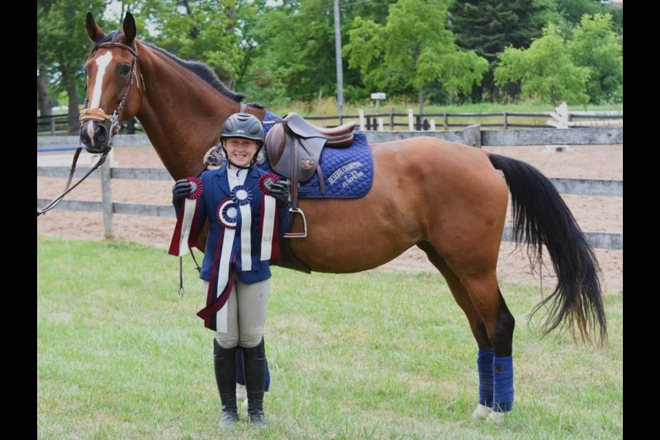 Hayden McCahon had an impressive run recently with the Rushmount Show Team. Anneli Tapanilla/Supplied photo