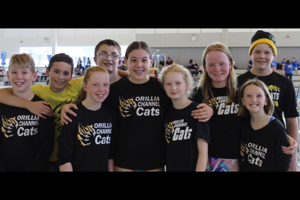 Orillia Channel Cat Swim Club members shone at the season-opening meet held recently in Milton. Submitted photo