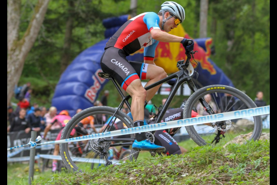 Orillia's Gunnar Holmgren will be competing in his third world mountain bike championship later this month in Quebec.