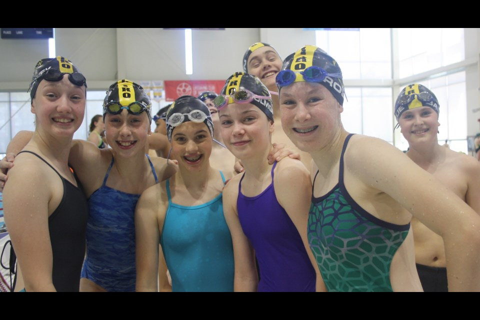 Swimmers at the North York Aquatic Club Long Course Invitational. Submitted photo
