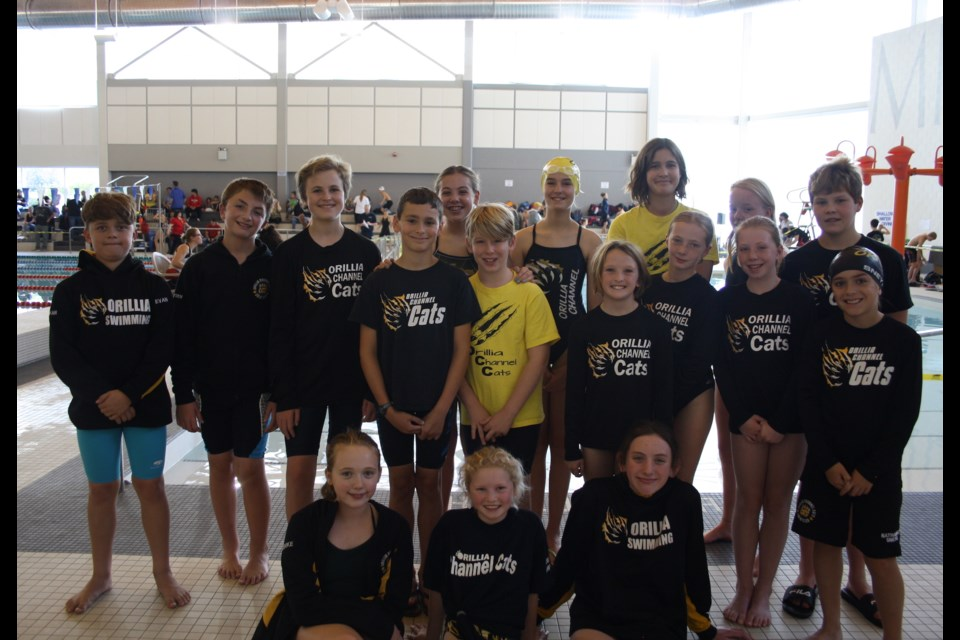These swimmers in the 12 and under category shone in Milton. Back row, from left: Evan Wagner, Nayden Nie, Alexander Baillie, Anna Holton, Sophie DeWolfsmith, Rachel Carr, Molly Hazel and Indiana Abram. In the middle row: Tristan Sekleski, Jackson Denne, Katie Heckendorn, Marley Grave, Charlee Tillmanns and Nathaniel Sneyd. In the front row: Evangeline Cooke, Adair Wiecalwek and Olivia LePage.