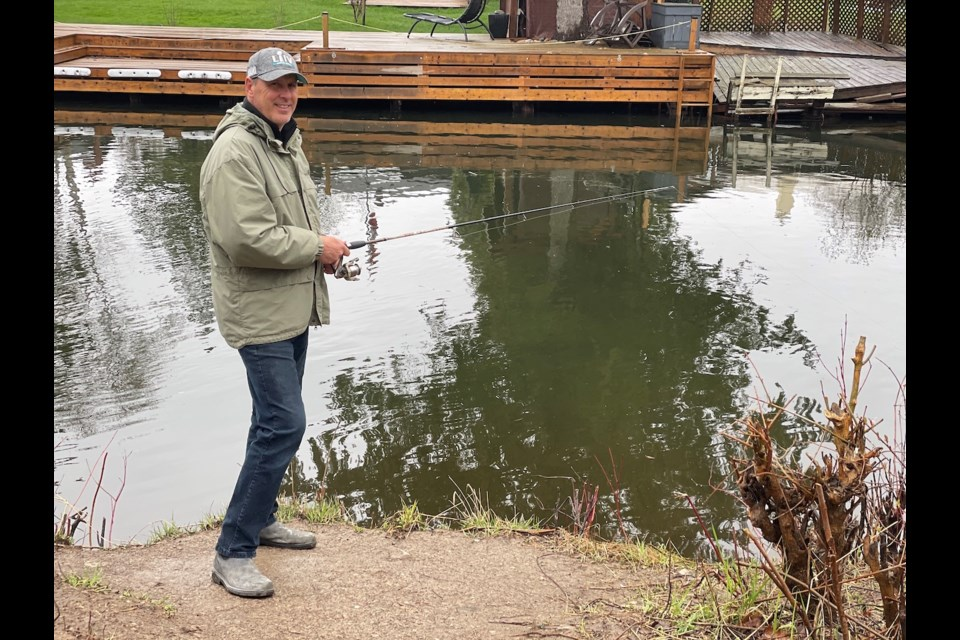 Jamie McIsaac was fishing at the popular Victoria Crescent canal early Tuesday afternoon.