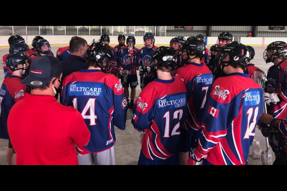 The Orillia Junior B Kings hosted the first Ontario Lacrosse Association box lacrosse game in Ontario in over a year this past weekend.