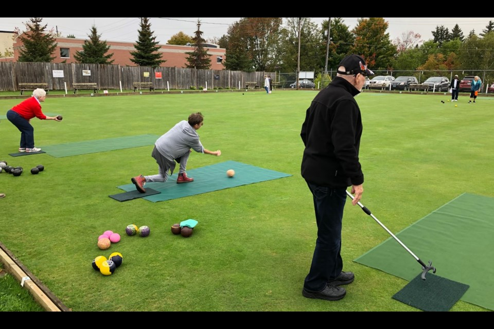 Local lawn bowlers concluded the summer season Saturday with a tournament, a meeting and a barbecue. Contributed photo