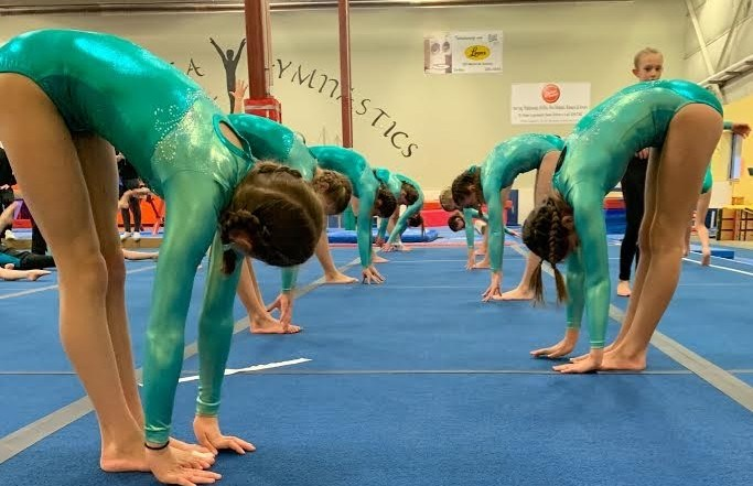 Young gymnasts are shown in the Mariposa Gymnastics Club's facility before COVID-19 restrictions began early this year. Courtnee Martinez Rodriguez photo