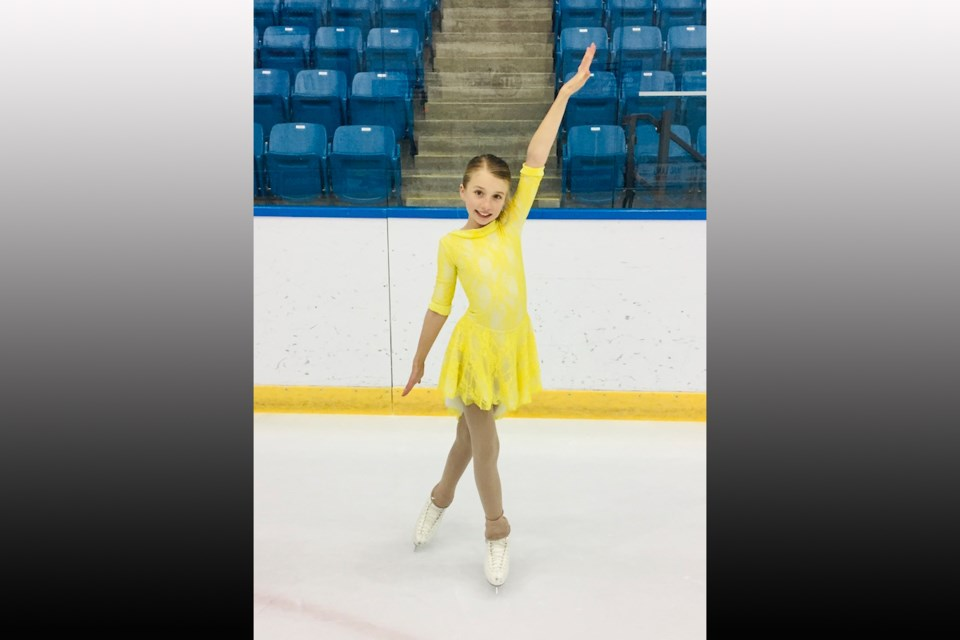 Marnie Martell is November's Skater of the Month. Image provided by the Orillia Figure Skating Club