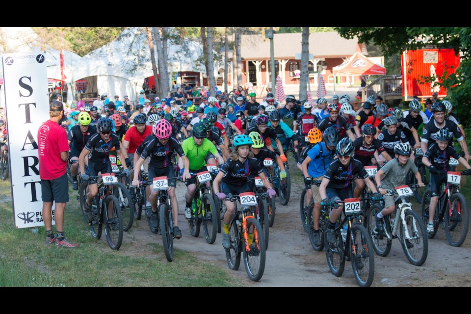 The Wednesday Night Mountainbike Series has proven popular for recreational and competitive cyclists since the series began in 1993. Tyler Evans/OrilliaMatters