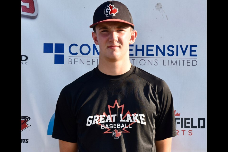 Orillia's Caleb Clark has big league dreams. Right now, he's living in London as he chases those dreams. Contributed photo
