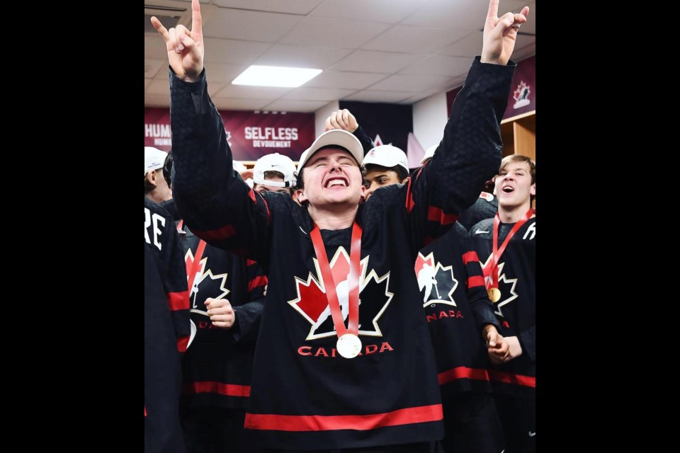 Former North Central Predators star forward Aidan Dudas realized a childhood dream of winning a gold medal with Team Canada at the World Junior Hockey Championships.