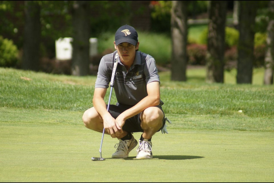 Orillia golfer Joe MacNeil has been making a name for himself at the collegiate level in the United States. Contributed photo