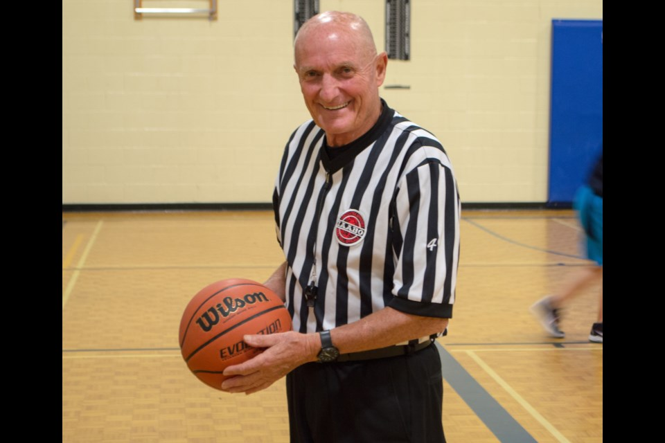 Mike McParland is one of the most recognizable faces around the game of basketball in Orillia and area. He has been refereeing local high school basketball games in Orillia for 50 years. Tyler Evans/OrilliaMatters
