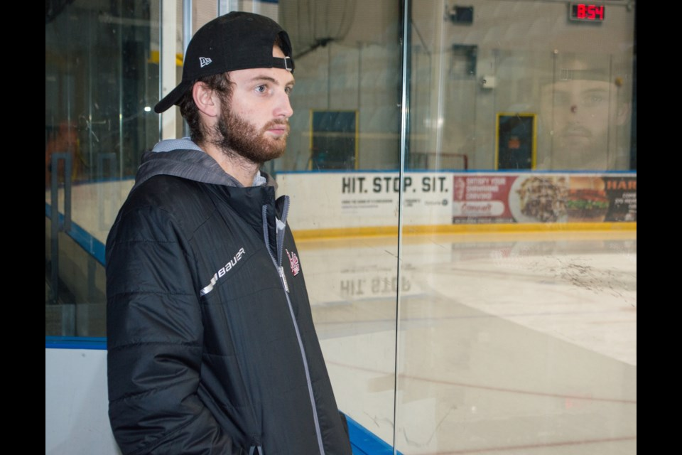 A hockey rink is a home away from home for Sam Hossack, who volunteers his time and effort to several local hockey teams . Tyler Evans/OrilliaMatters