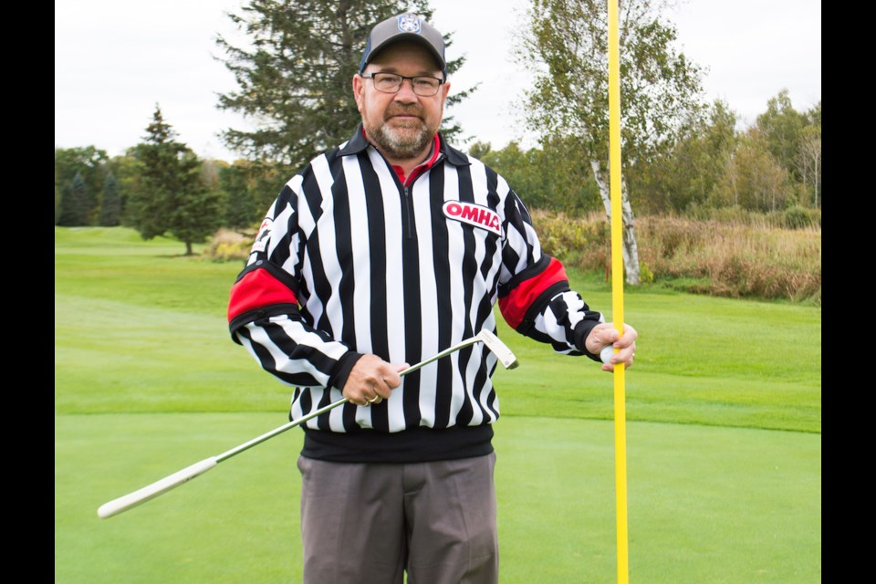 Terry Smith spends much of his time immersed in sports. He has been refereeing hockey for 44 years and has been around golf courses since he was four years old - as a player and professional. Tyler Evans/OrilliaMatters