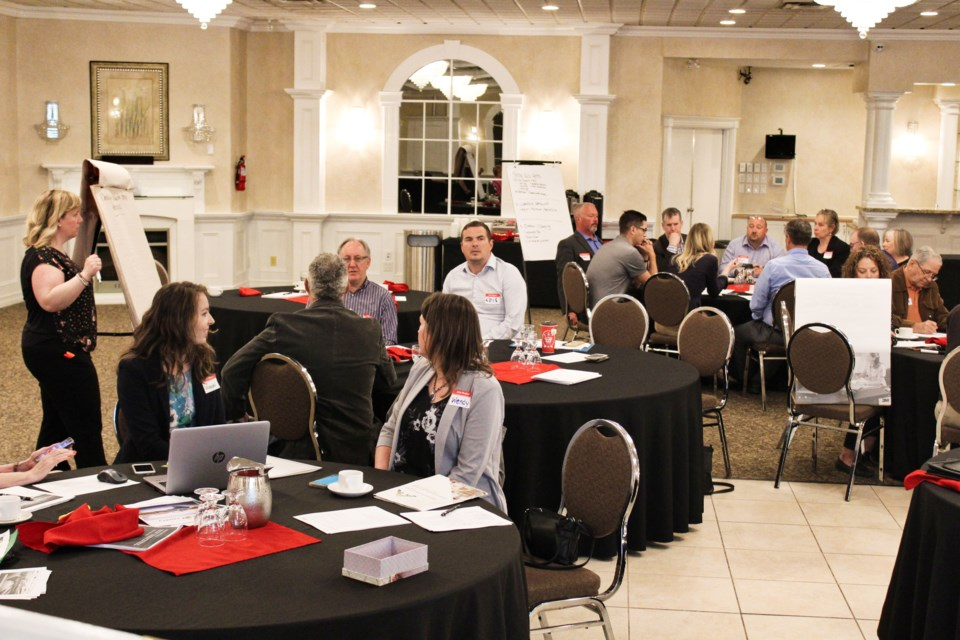 A group gathered Tuesday at the Best Western Plus Mariposa Inn and Conference Centre to discuss ways to attract investors to the area to boost tourism. Nathan Taylor/OrilliaMatters