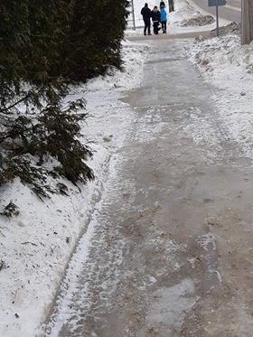 slippery sidewalk
