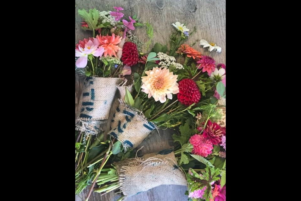 Punnett's homegrown bouquet.
