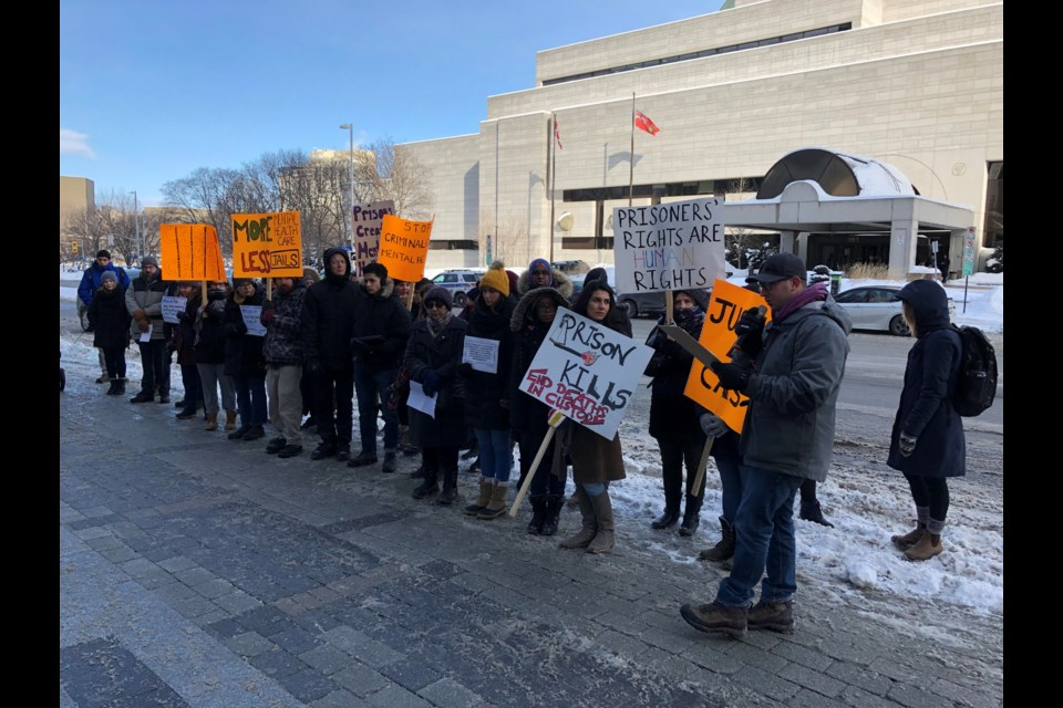 Protest against Bell charges against inmates. Photo: Chris Kurys