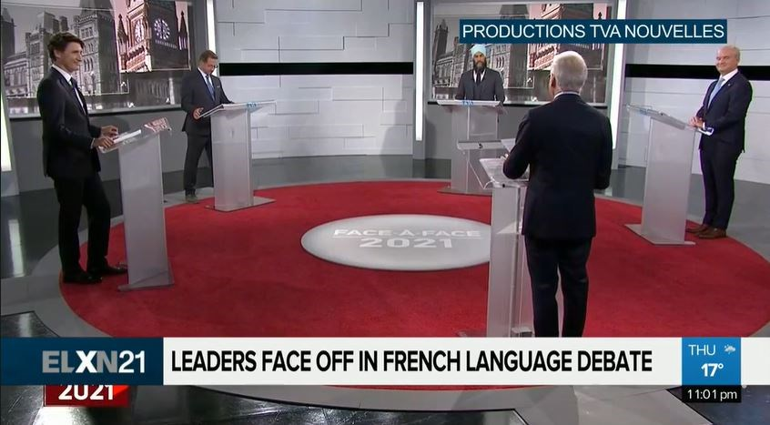 first debate french