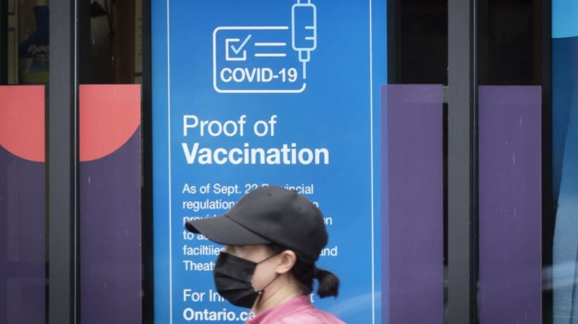 proof of vax mask