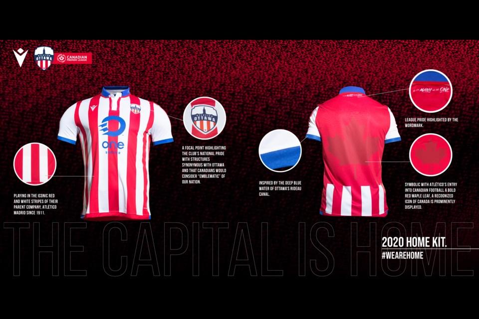 Atletico Ottawa jersey. Photo/Canadian Premier League