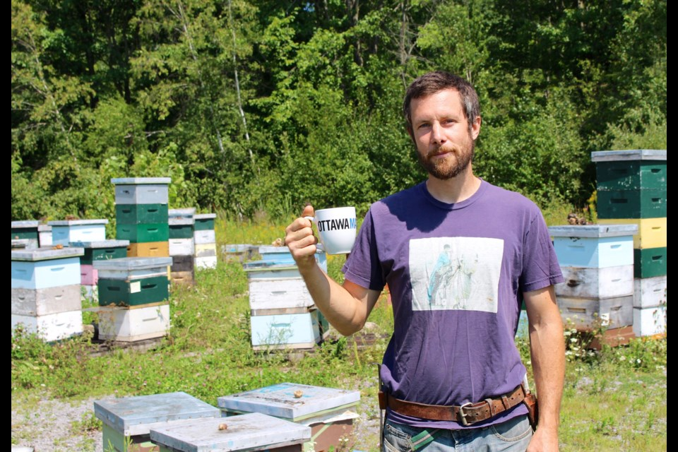 Brian Lacey, owner of Blue Shoes Honey, has worked in the bee industry his entire career and started selling honey himself in 2015. Drew May/ OttawaMatters.com