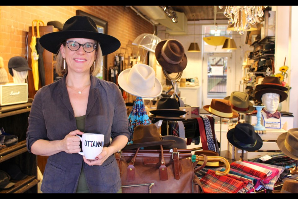 Gina Csiffary, owner of Mickle Macks Haberdashery, said Ottawa lacked a dedicated hat shop and it used to be a challenge for hat wearers to find what they needed. Drew May/ OttawaMatters.com