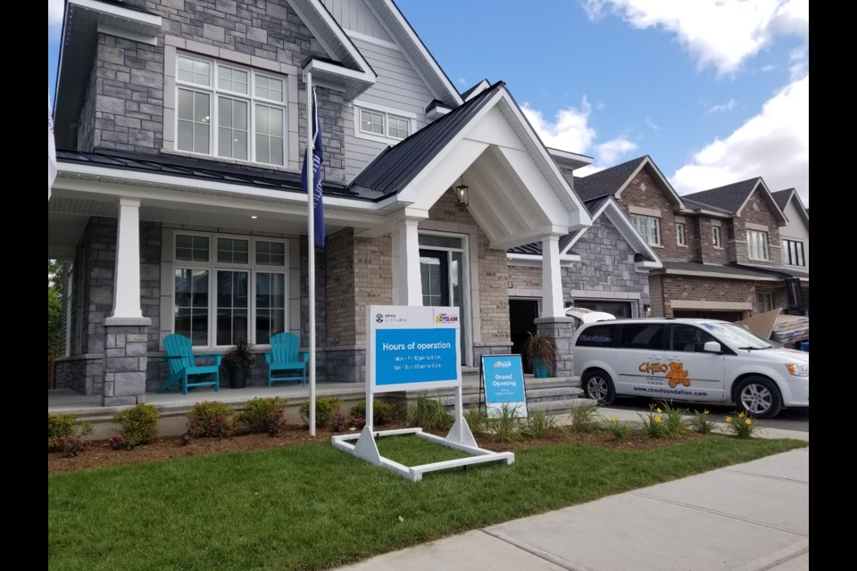 The CHEO Dream of a Lifetime Lottery home is located at 348 Eaglehead Cres. (Sept 9, 2019/Jenn Pritchard)