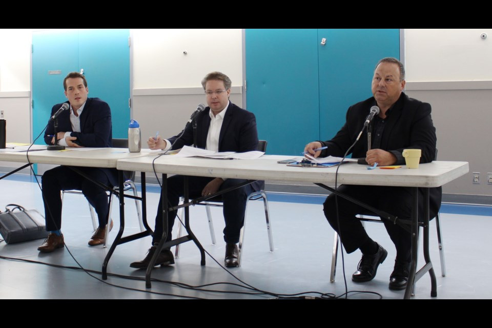 Candidates gave their pitches for how to improve affordable housing and OC Transpo at a debate in Rideau-Vanier on Oct. 4. Drew May/ OttawaMatters.com