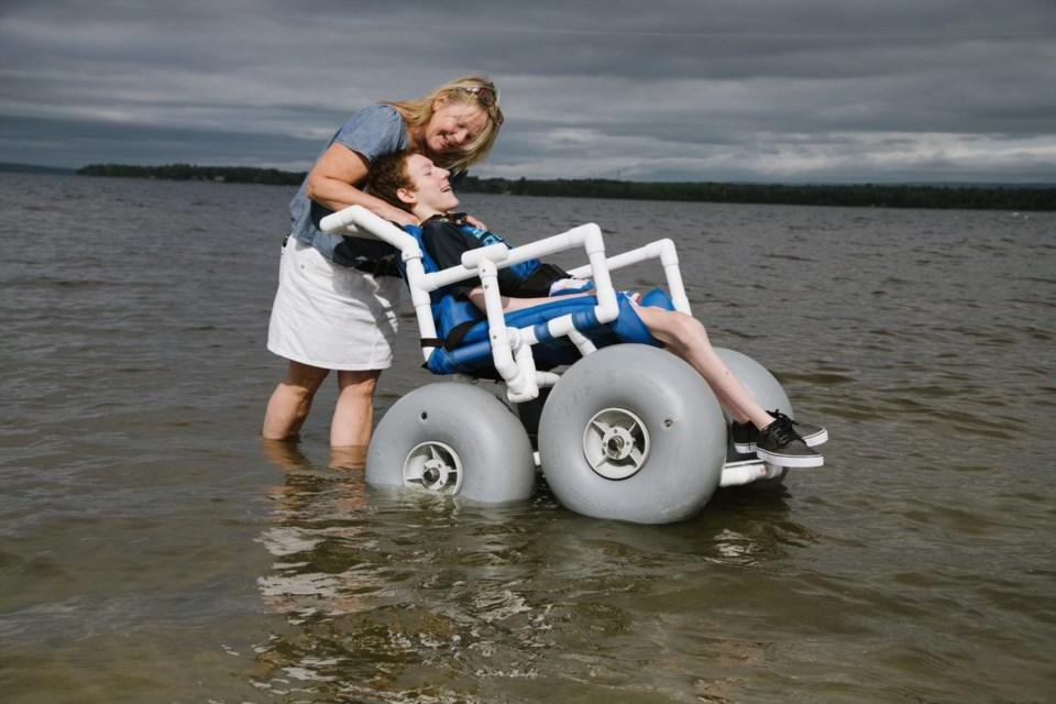 City of Ottawa water wheelchair beach