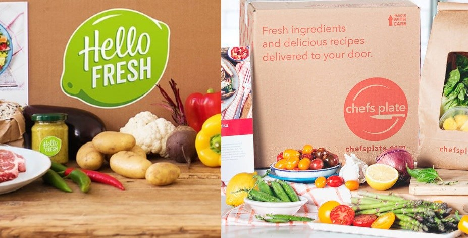 Hello Fresh and Chefs Plate. Photos/ hellofresh.ca and chefsplate.com