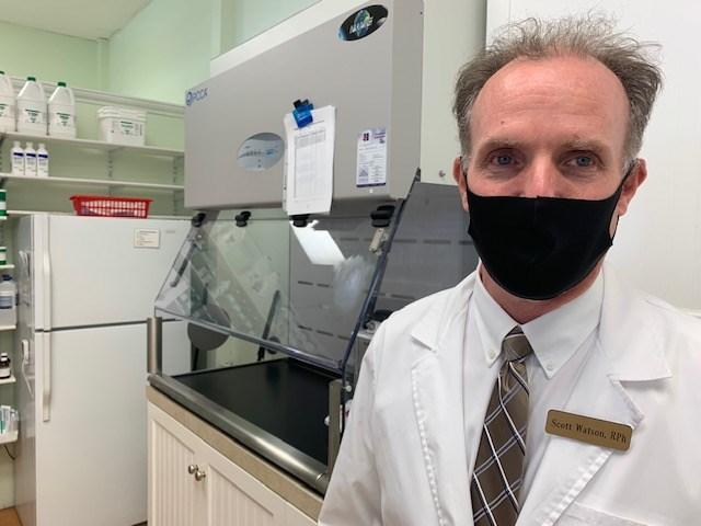 Compounding pharmacist Scott Watson.