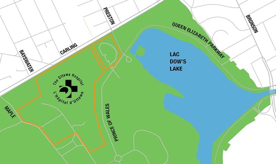 2018-03-23 new Ottawa Hospital campus map