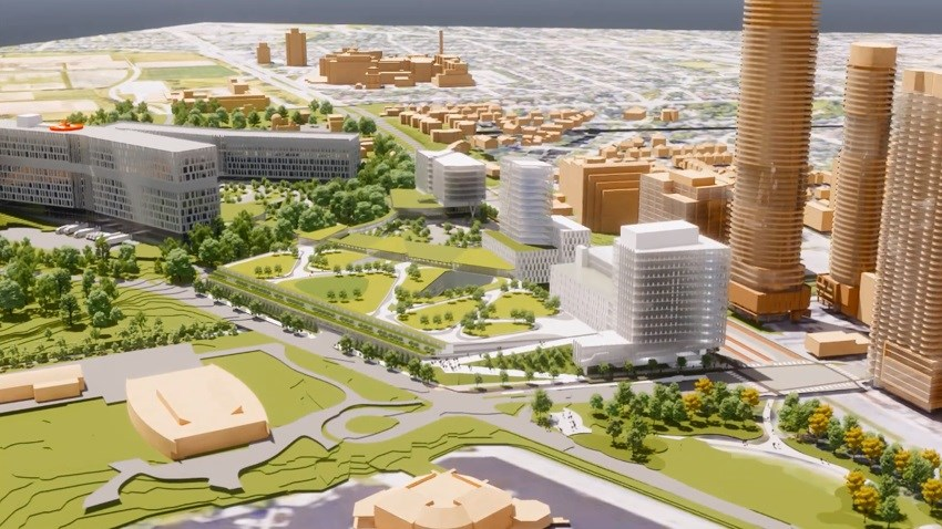 Design for new Ottawa Hospital Civic Campus, slated to open 2028. Photo/ The Ottawa Hospital