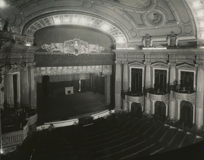 Interior of the new Russell Theatre before its demolition in 1928, Library and Archives Canada, Mikan 7821743.