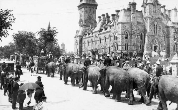 circus in ottawa 1895